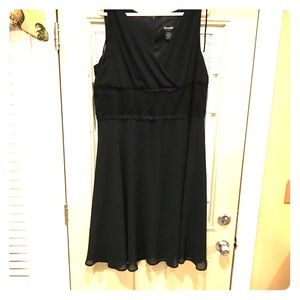 Ladies plus size black dress.